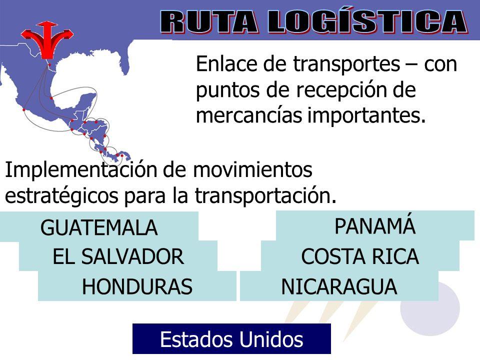 RUTA LOGÍSTICA Enlace de transportes – con puntos de recepción de mercancías importantes.