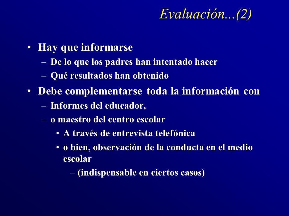 Evaluación...(2) Hay que informarse