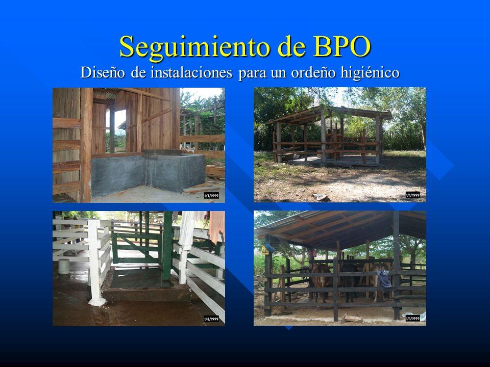 Seguimiento de BPO Diseño de instalaciones para un ordeño higiénico