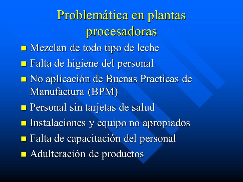 Problemática en plantas procesadoras