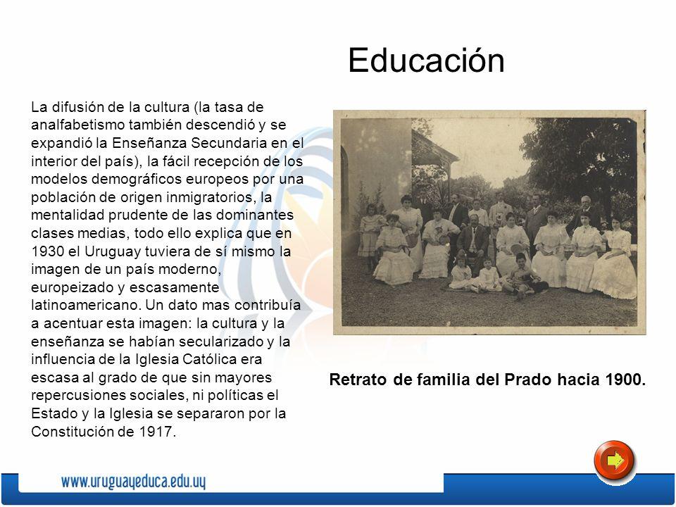 Educación Retrato de familia del Prado hacia 1900.