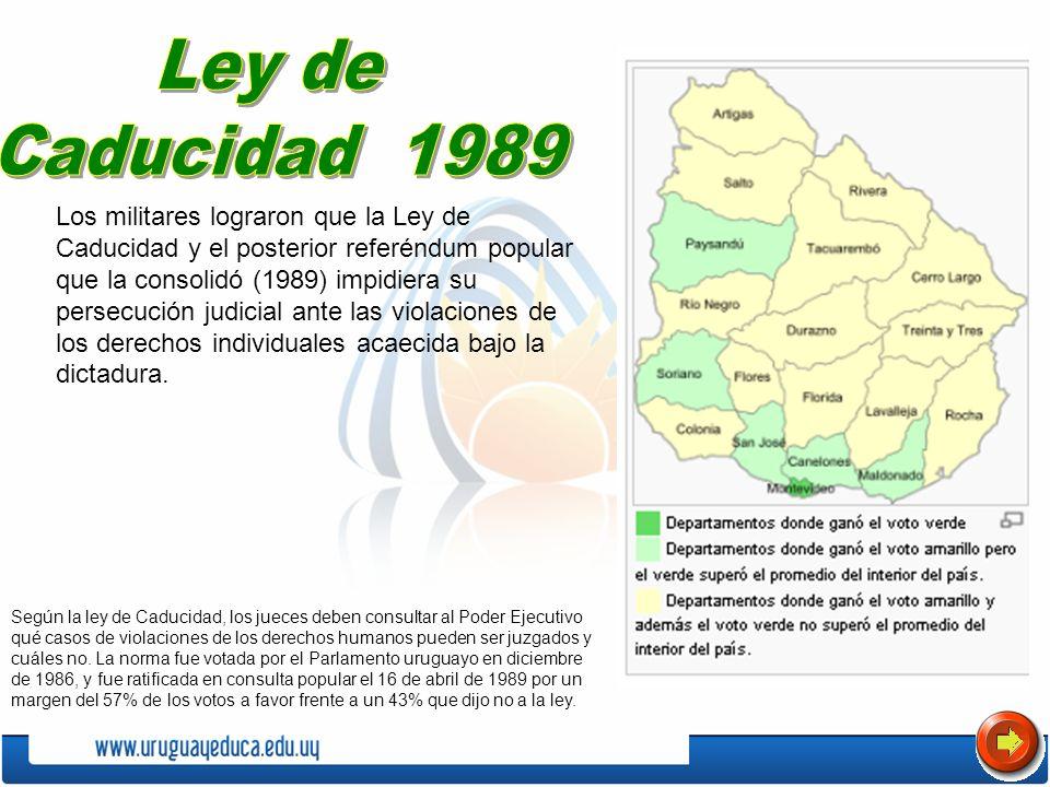 Ley de Caducidad 1989.