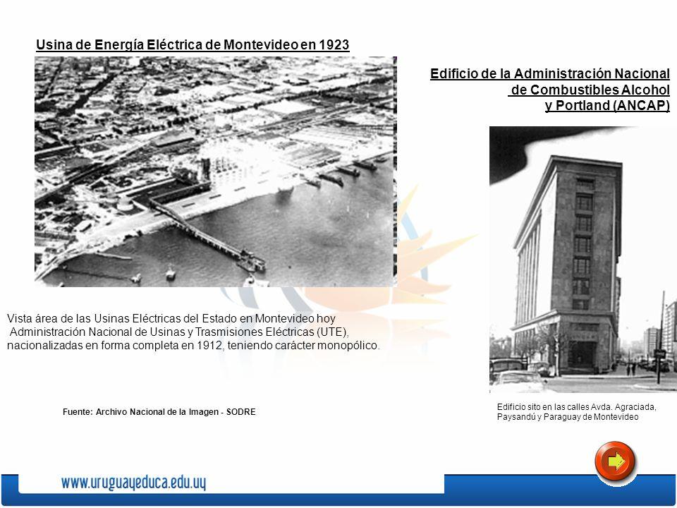 Usina de Energía Eléctrica de Montevideo en 1923