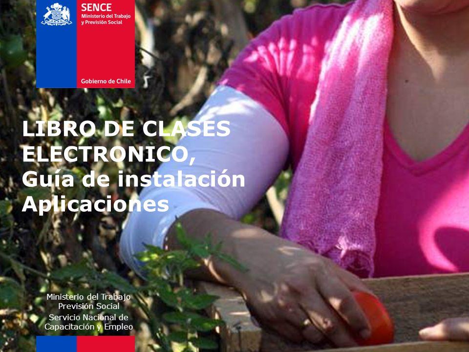 LIBRO DE CLASES ELECTRONICO, Guía de instalación Aplicaciones
