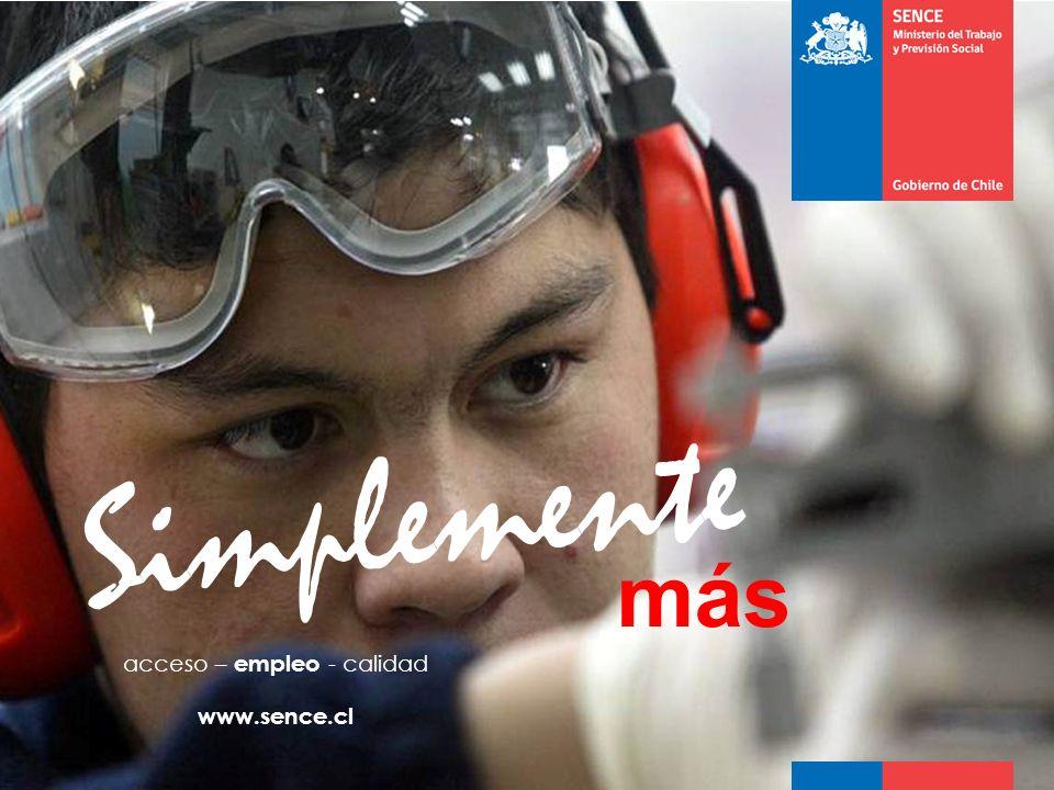 más Simplemente acceso – empleo - calidad www.sence.cl