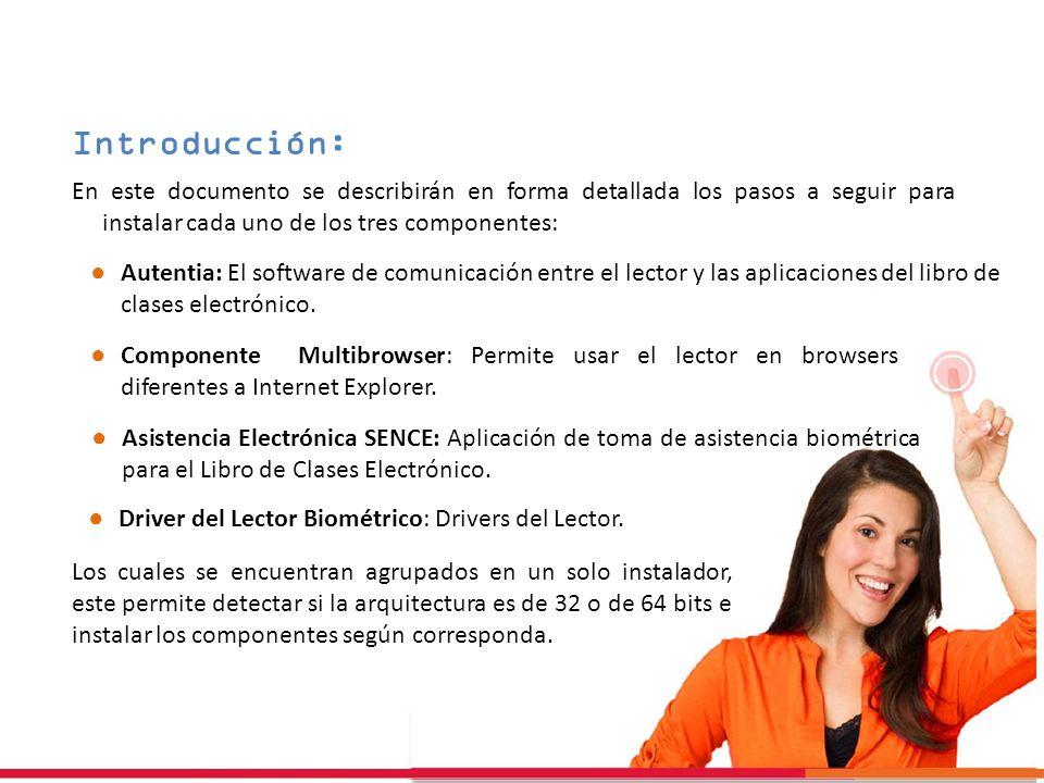 Introducción: En este documento se describirán en forma detallada los pasos a seguir para instalar cada uno de los tres componentes: