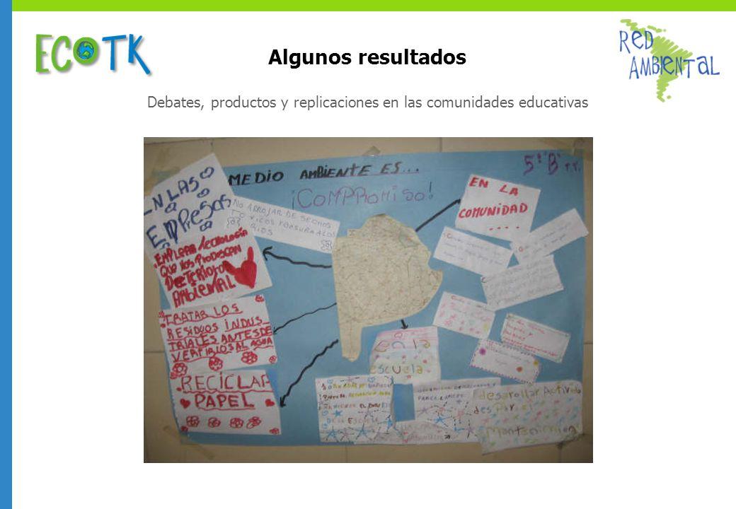 Debates, productos y replicaciones en las comunidades educativas