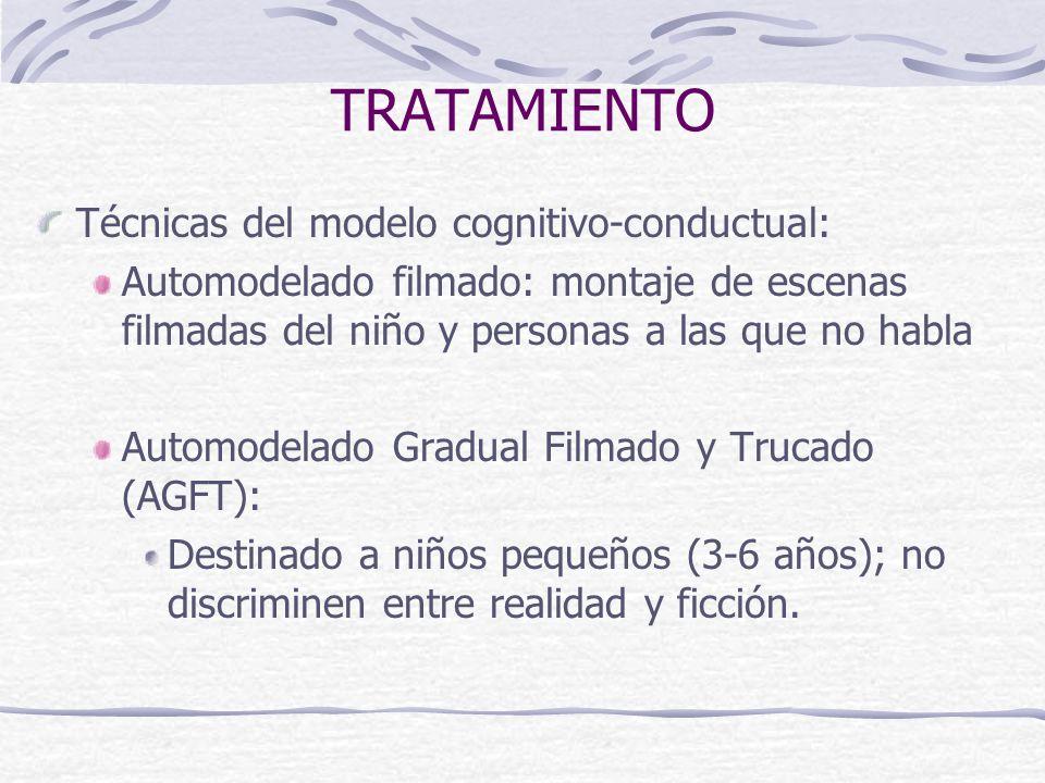 TRATAMIENTO Técnicas del modelo cognitivo-conductual: