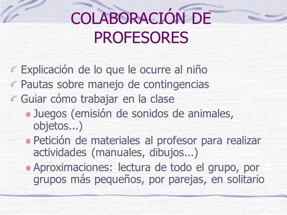 COLABORACIÓN DE PROFESORES