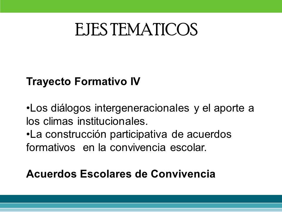 EJES TEMATICOS Trayecto Formativo IV