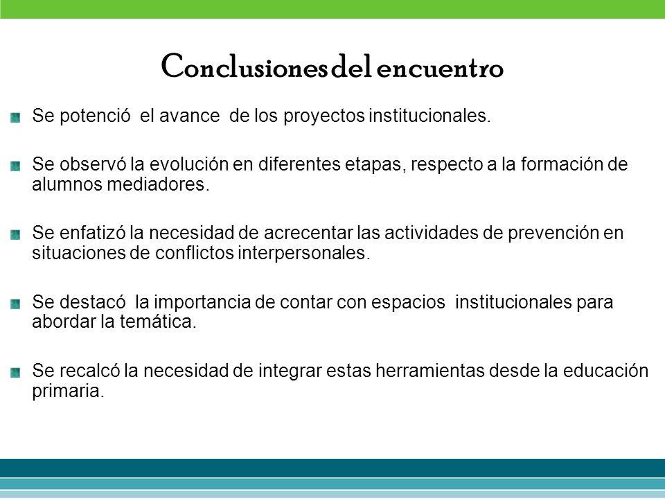 Conclusiones del encuentro