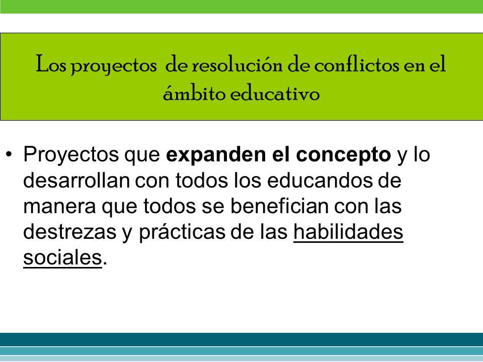 Los proyectos de resolución de conflictos en el ámbito educativo