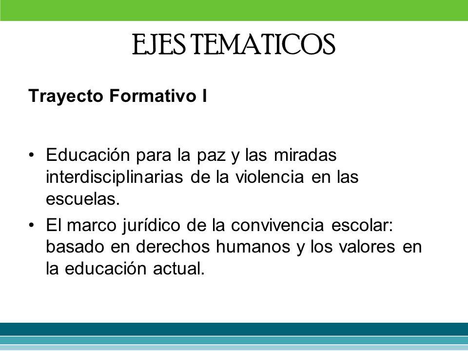EJES TEMATICOS Trayecto Formativo I