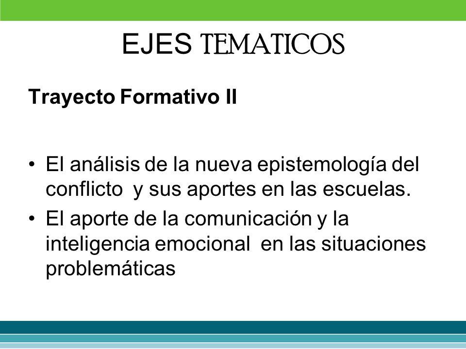 EJES TEMATICOS Trayecto Formativo II