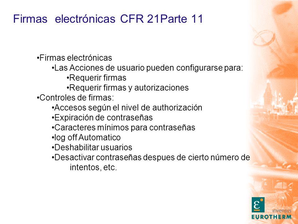 Firmas electrónicas CFR 21Parte 11