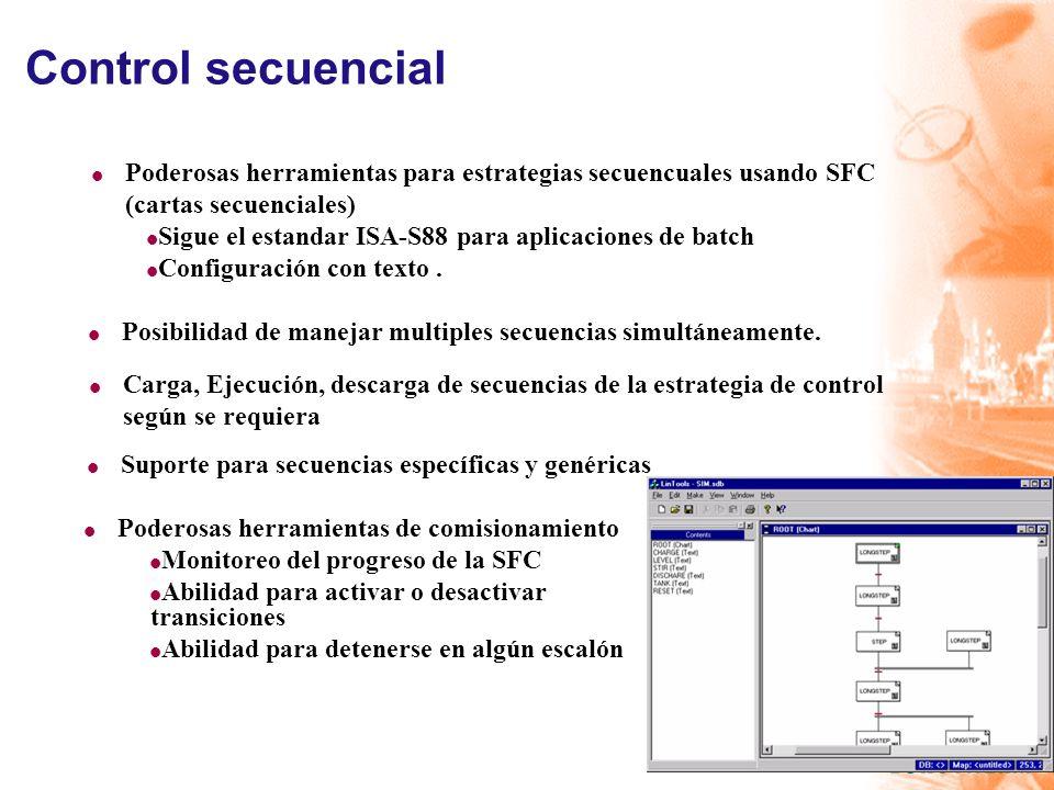 Control secuencial Poderosas herramientas para estrategias secuencuales usando SFC. (cartas secuenciales)