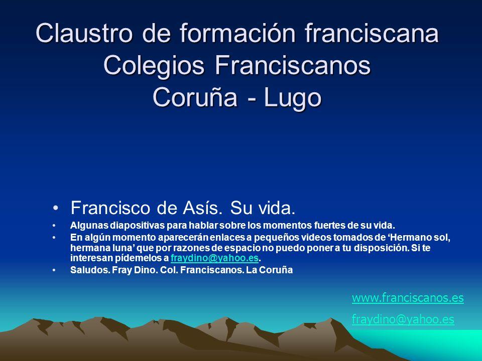 Claustro de formación franciscana Colegios Franciscanos Coruña - Lugo