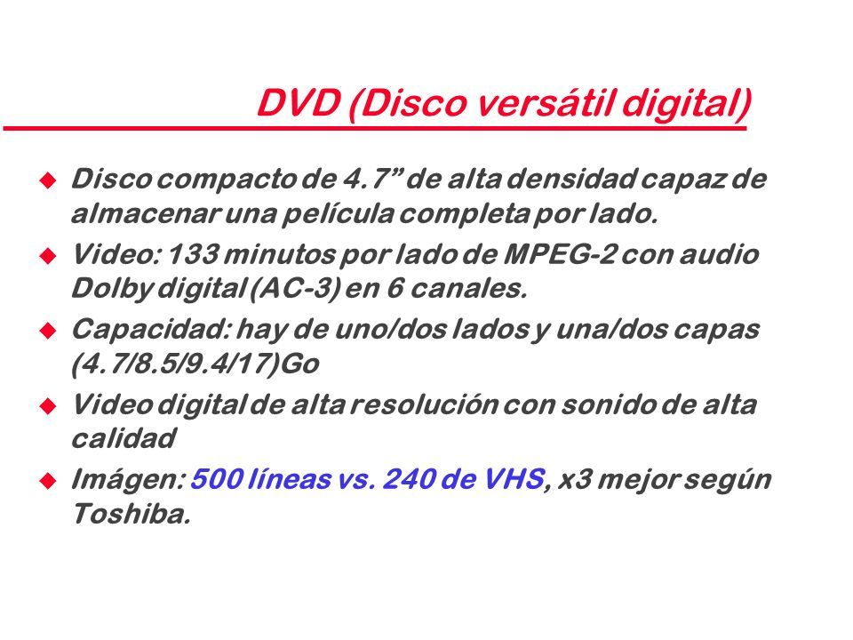 DVD (Disco versátil digital)