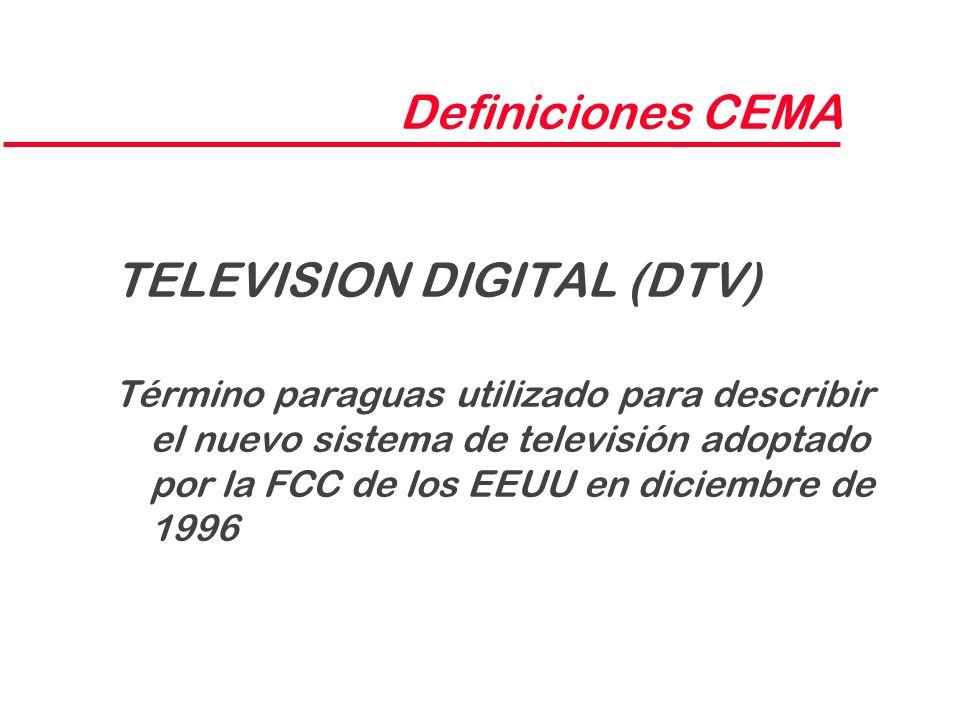TELEVISION DIGITAL (DTV)