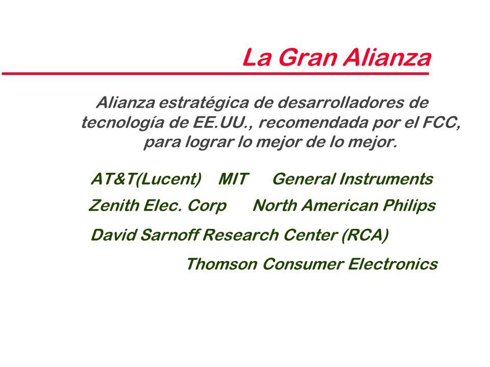 La Gran Alianza Alianza estratégica de desarrolladores de tecnología de EE.UU., recomendada por el FCC, para lograr lo mejor de lo mejor.