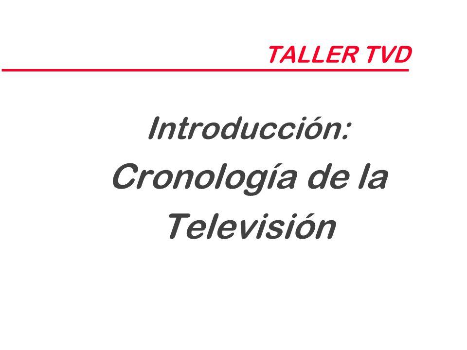 TALLER TVD Introducción: Cronología de la Televisión