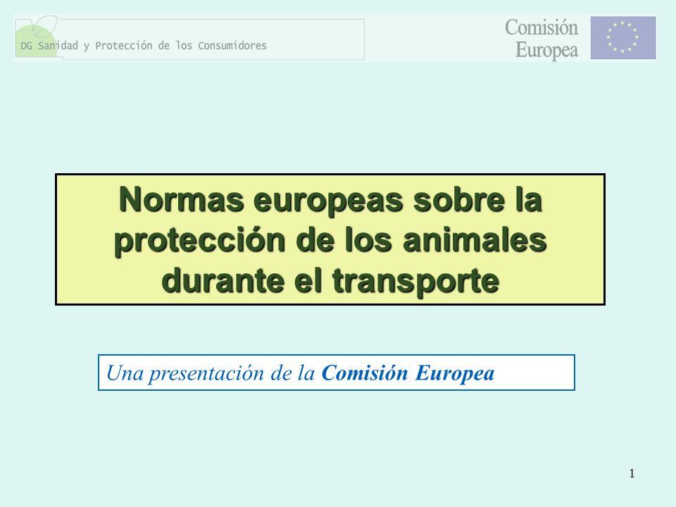 Normas europeas sobre la protección de los animales durante el transporte