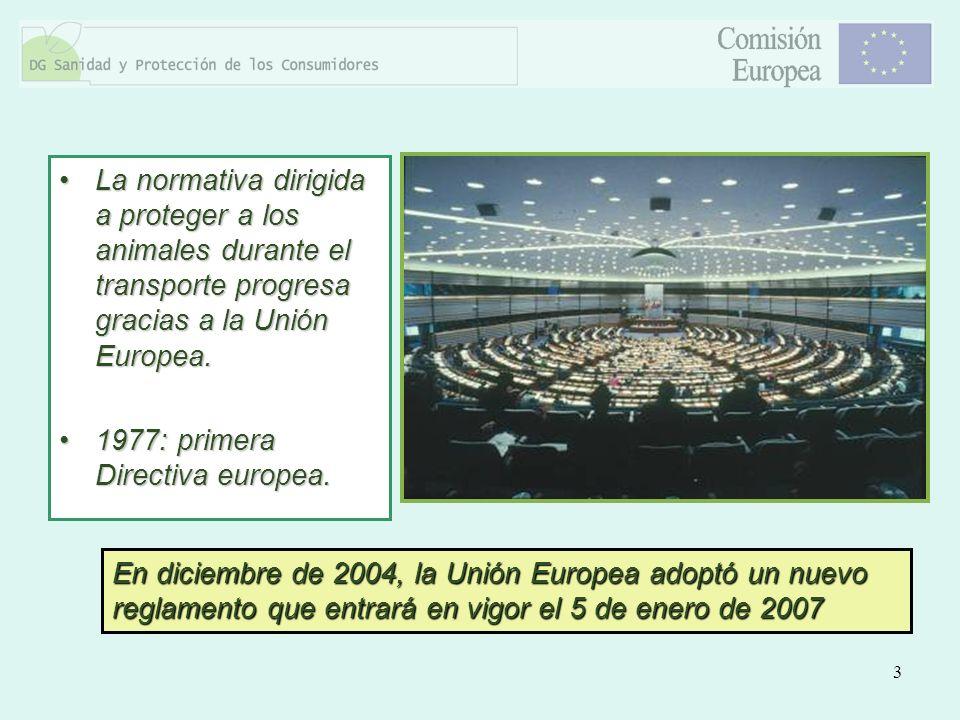 La normativa dirigida a proteger a los animales durante el transporte progresa gracias a la Unión Europea.