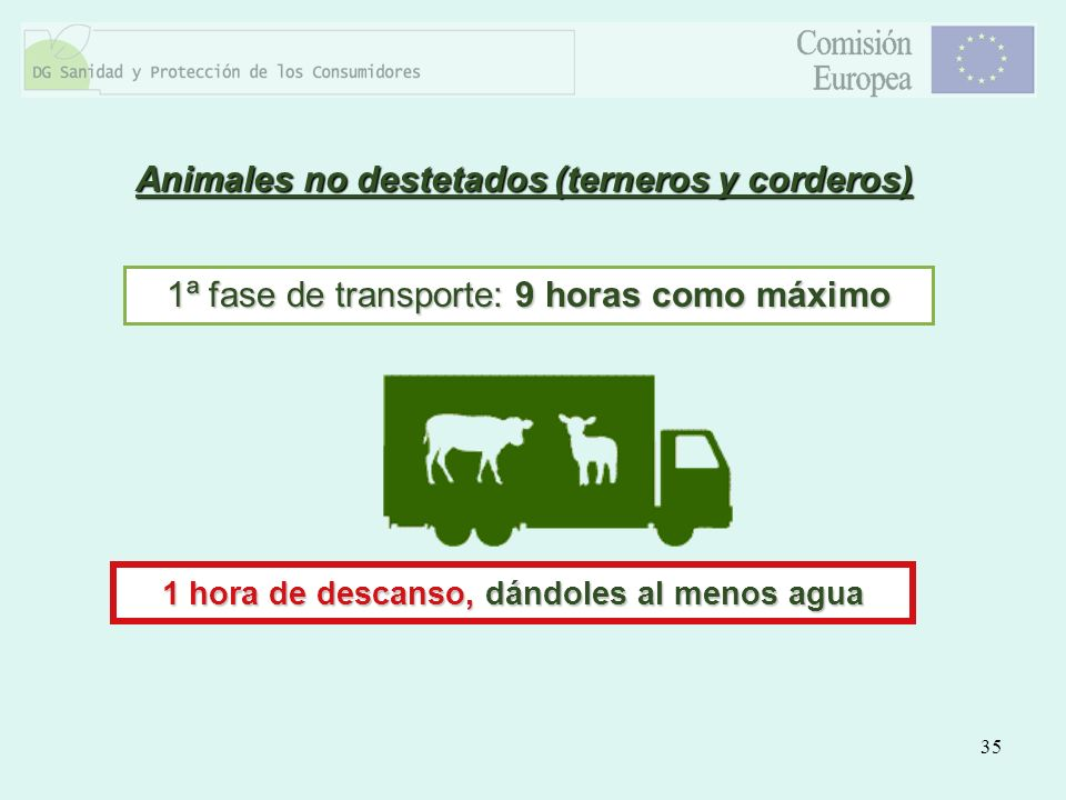 Animales no destetados (terneros y corderos)