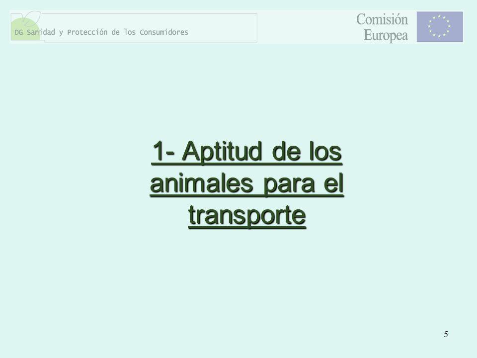 1- Aptitud de los animales para el transporte
