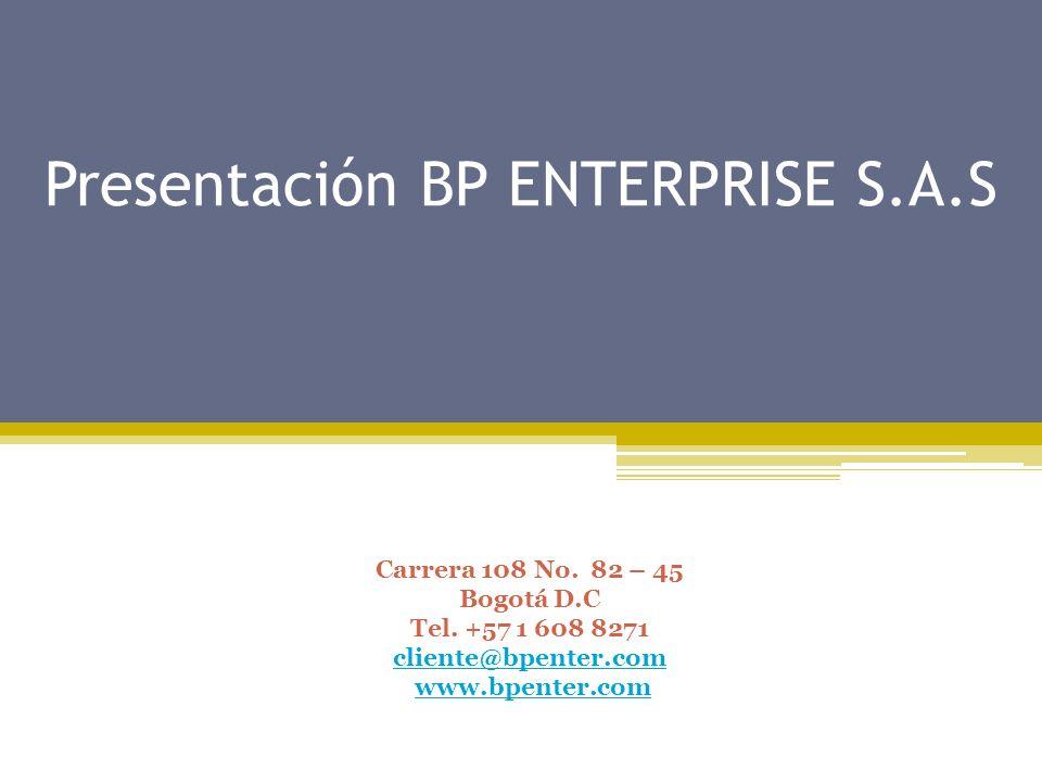Presentación BP ENTERPRISE S.A.S