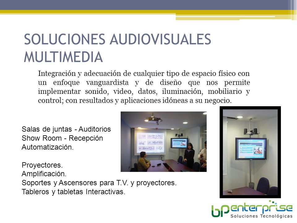 SOLUCIONES AUDIOVISUALES MULTIMEDIA