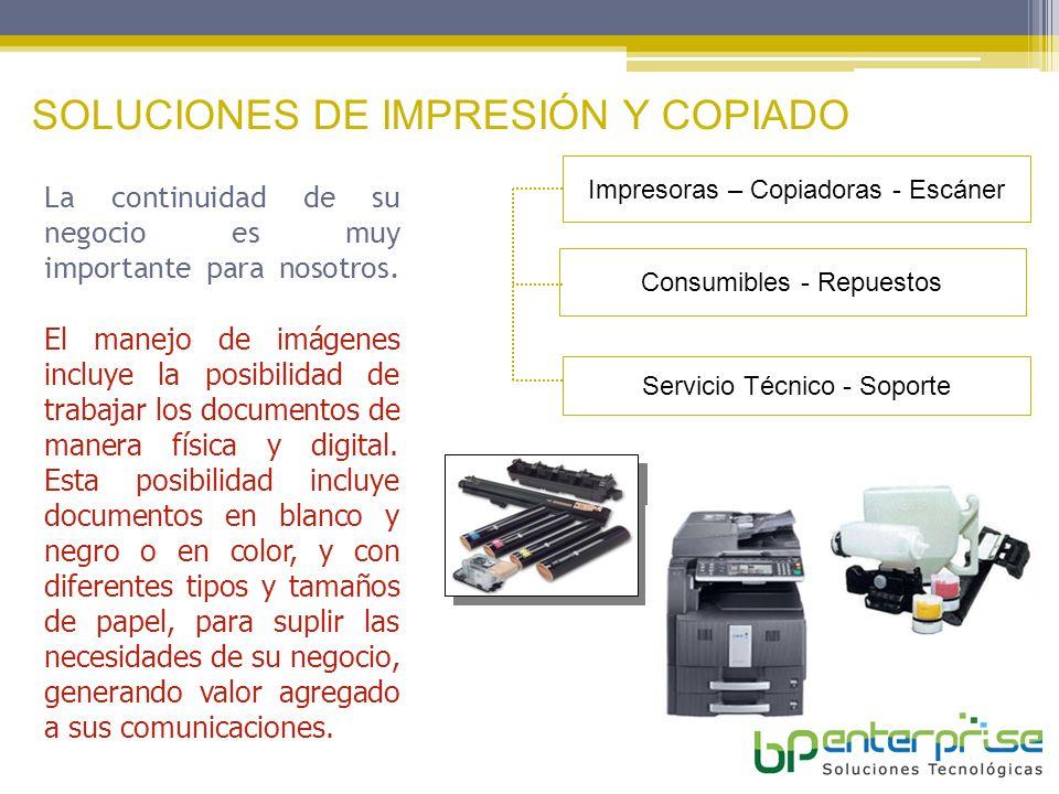 SOLUCIONES DE IMPRESIÓN Y COPIADO
