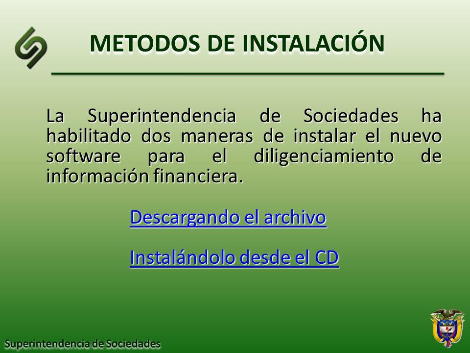 METODOS DE INSTALACIÓN