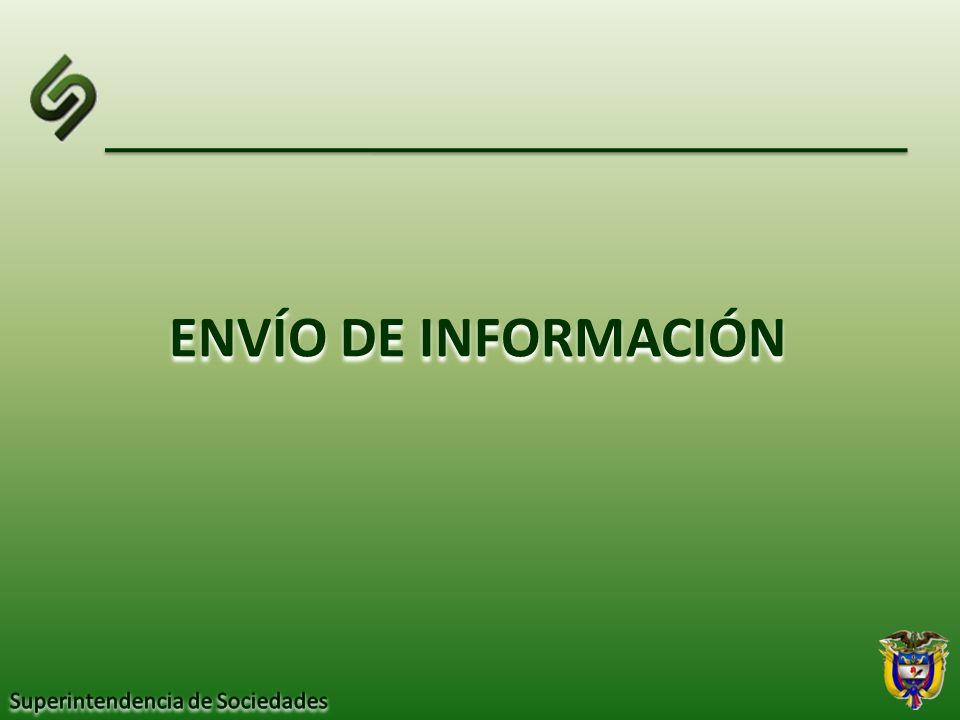 ENVÍO DE INFORMACIÓN