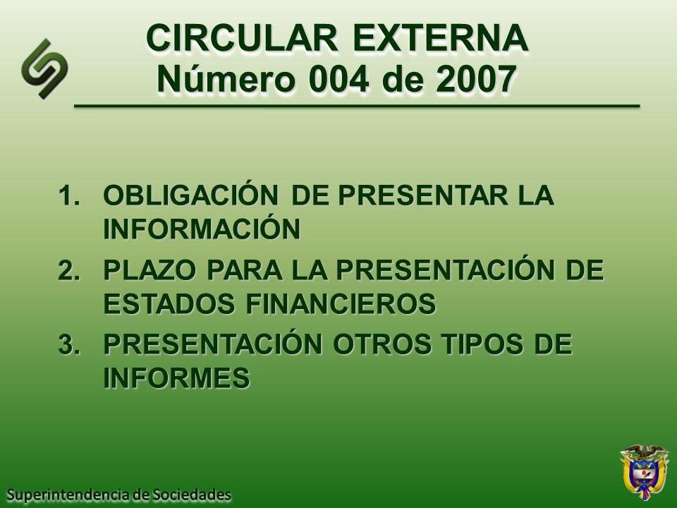 CIRCULAR EXTERNA Número 004 de 2007