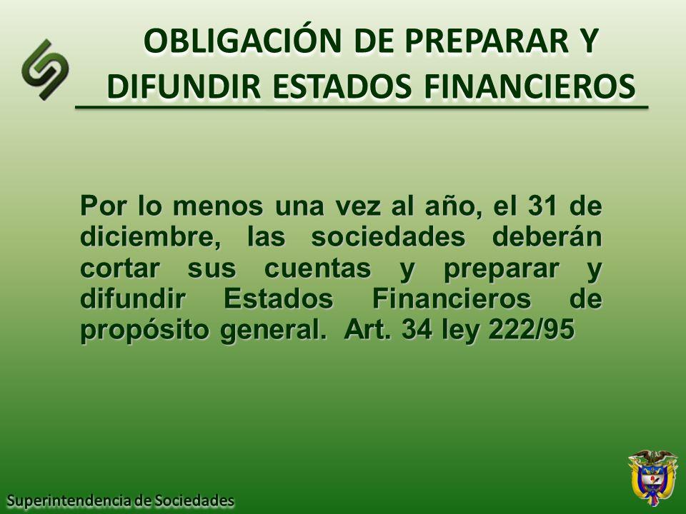 OBLIGACIÓN DE PREPARAR Y DIFUNDIR ESTADOS FINANCIEROS