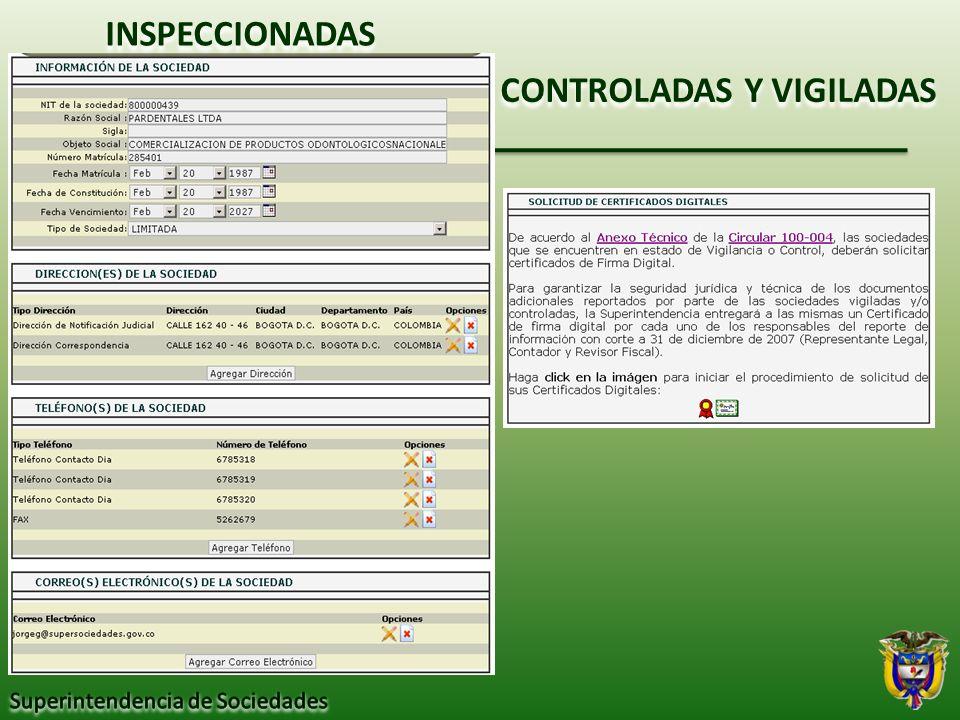 CONTROLADAS Y VIGILADAS