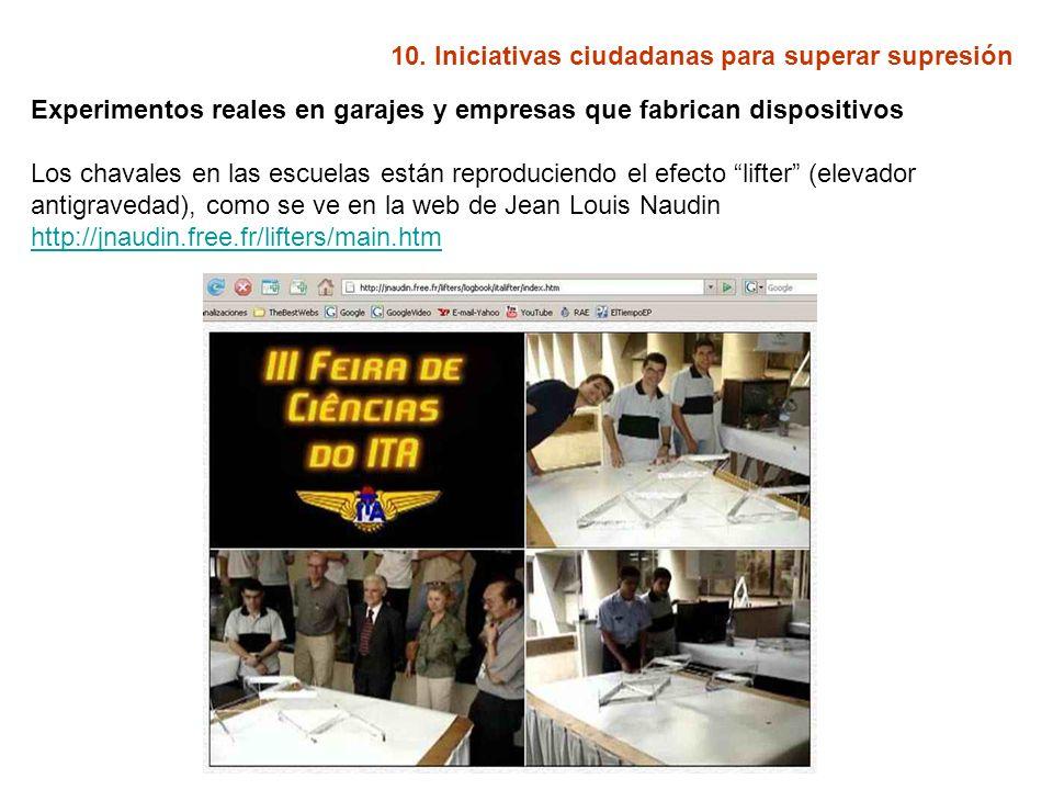 10. Iniciativas ciudadanas para superar supresión