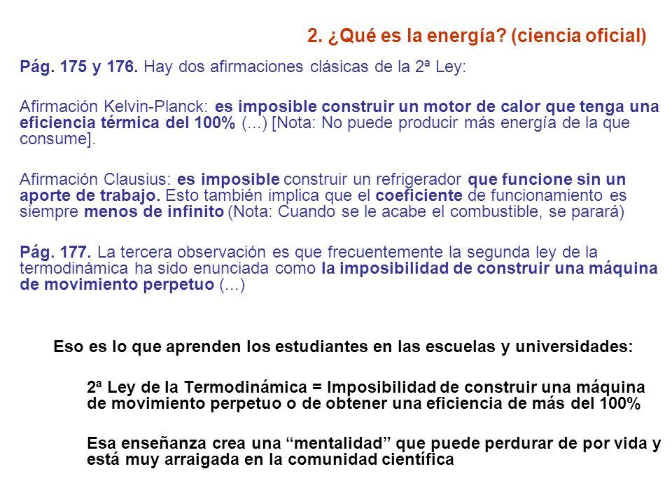 2. ¿Qué es la energía (ciencia oficial)