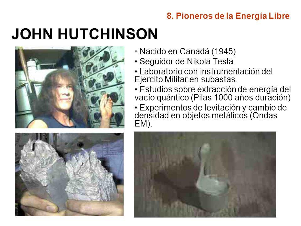 JOHN HUTCHINSON 8. Pioneros de la Energía Libre
