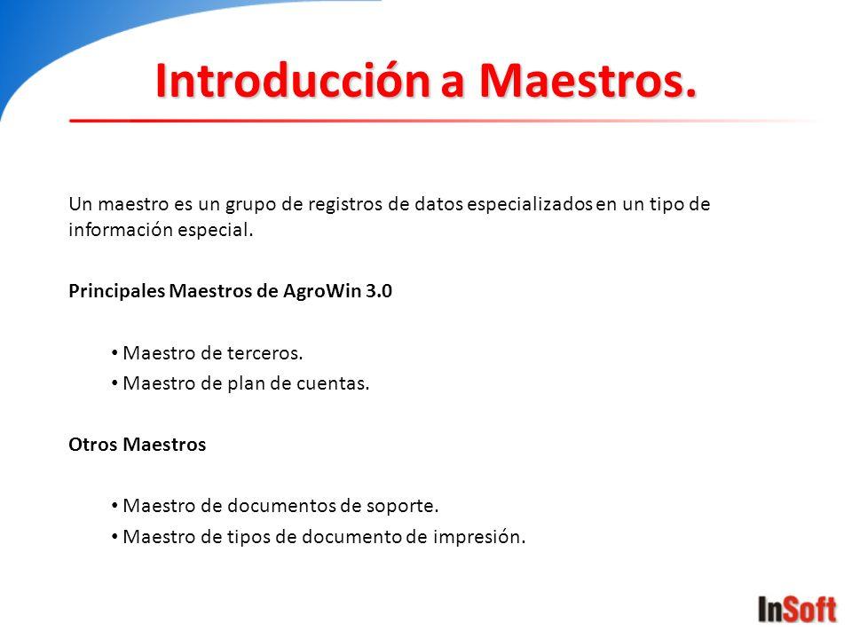 Introducción a Maestros.