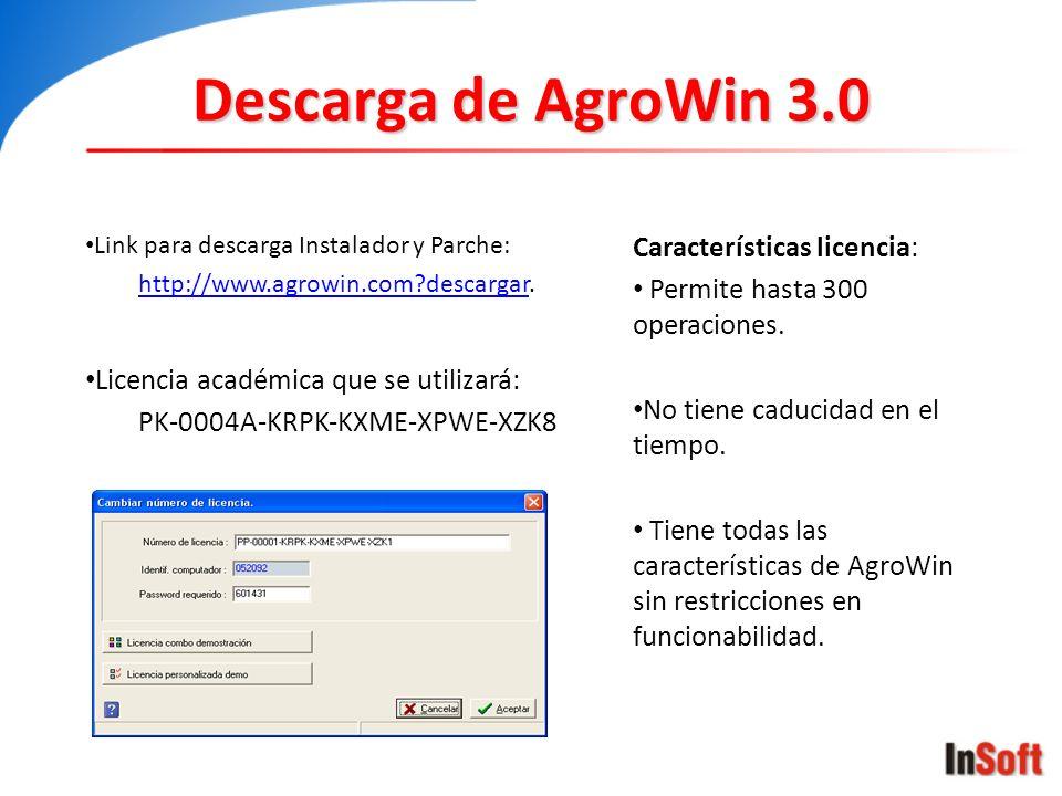 Descarga de AgroWin 3.0 Características licencia: