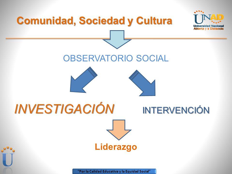 Comunidad, Sociedad y Cultura