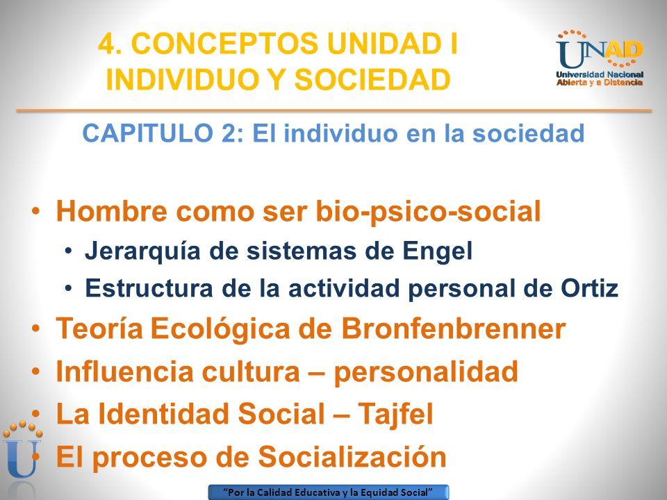 CAPITULO 2: El individuo en la sociedad
