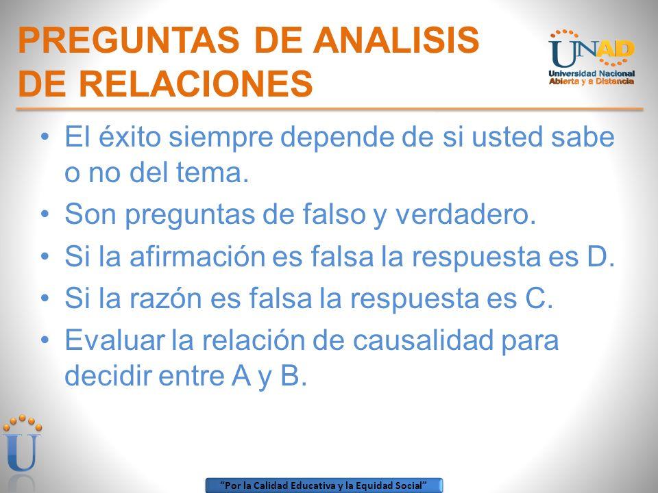 PREGUNTAS DE ANALISIS DE RELACIONES