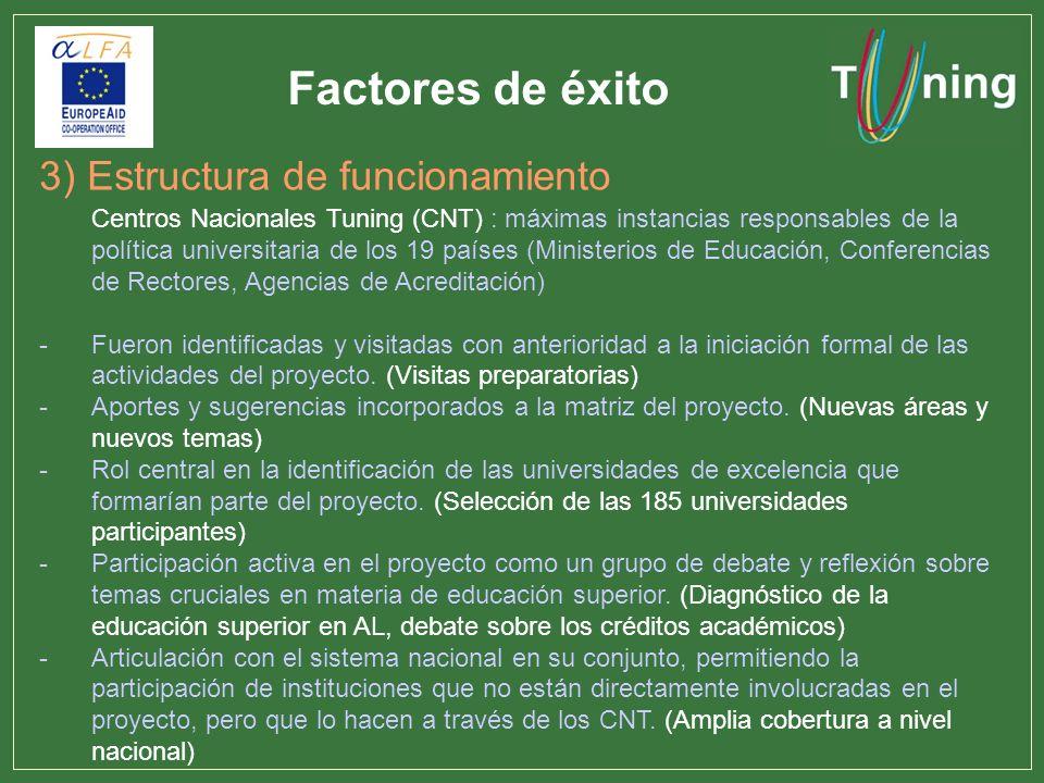 Factores de éxito 3) Estructura de funcionamiento