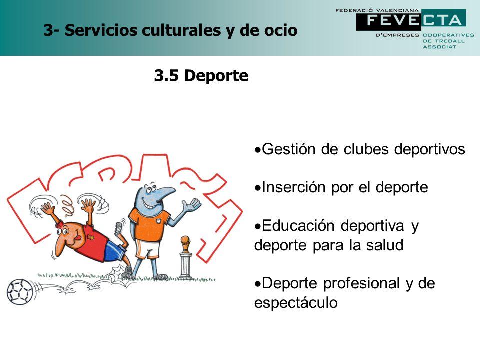 3- Servicios culturales y de ocio