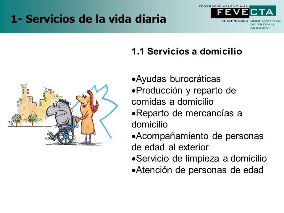 1- Servicios de la vida diaria
