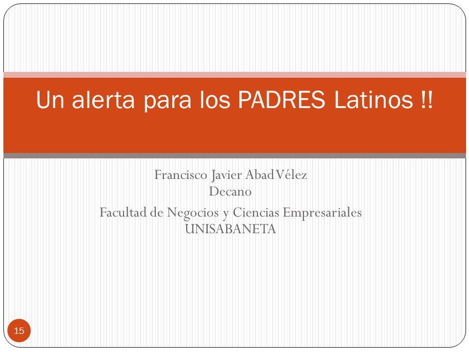 Un alerta para los PADRES Latinos !!