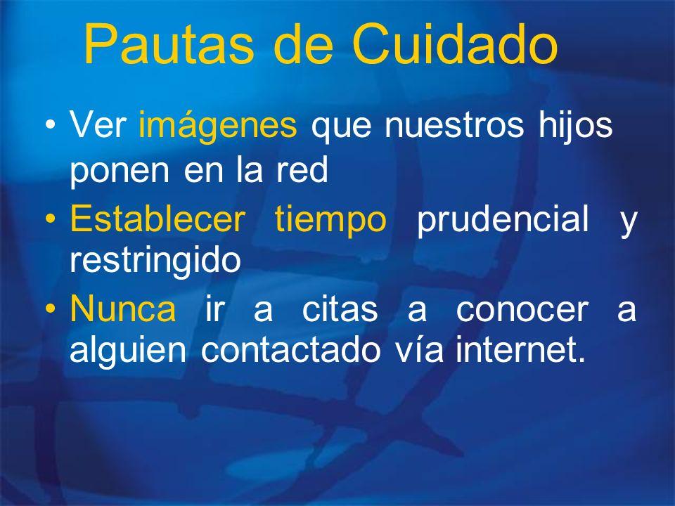 Pautas de Cuidado Ver imágenes que nuestros hijos ponen en la red
